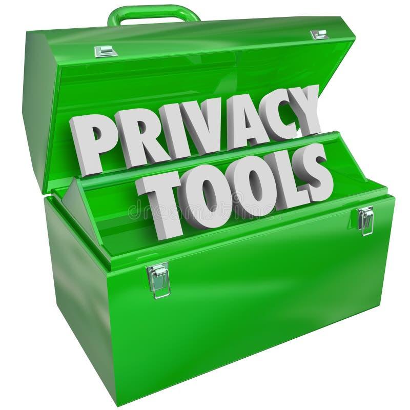 De privacyhulpmiddelen van middelen voorziet ook Bescherming van de Gegevens de Persoonlijke Informatie stock illustratie