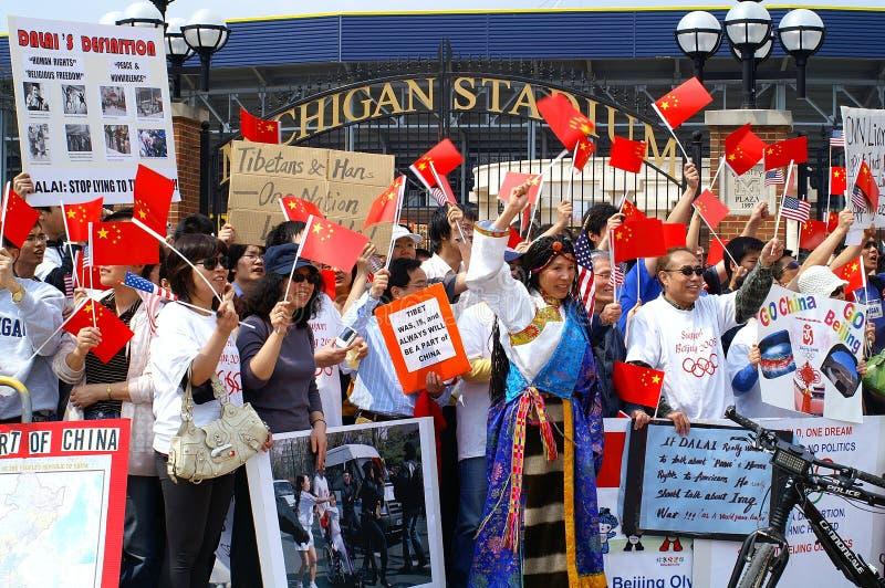 De pro Protesteerder van China royalty-vrije stock foto's