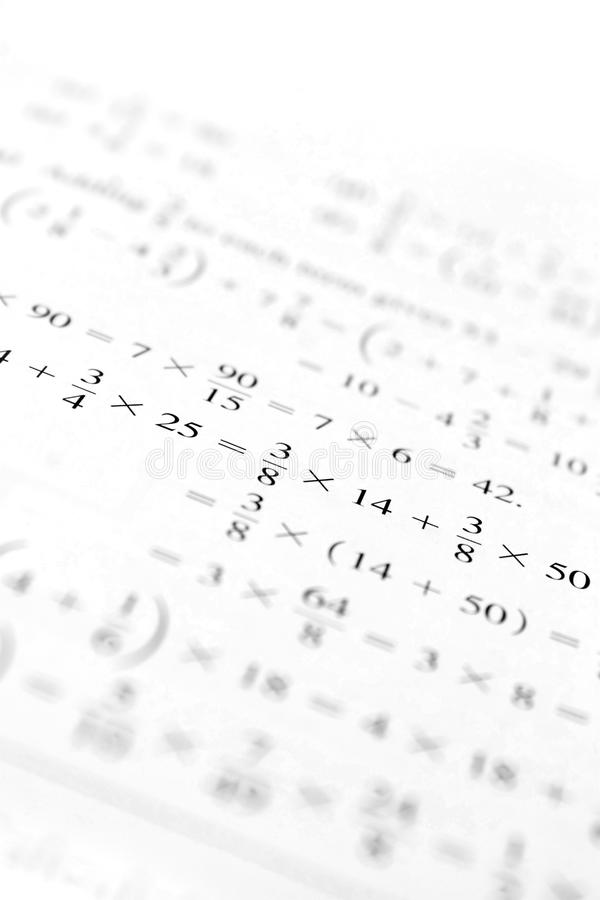 De Problemen van de algebra royalty-vrije stock fotografie
