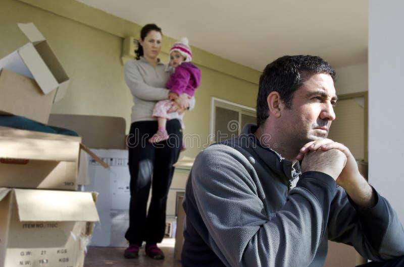 De Problemen van de familie - daklozen stock foto