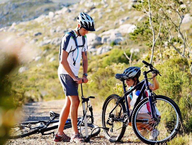 De problemen van de fiets royalty-vrije stock afbeeldingen