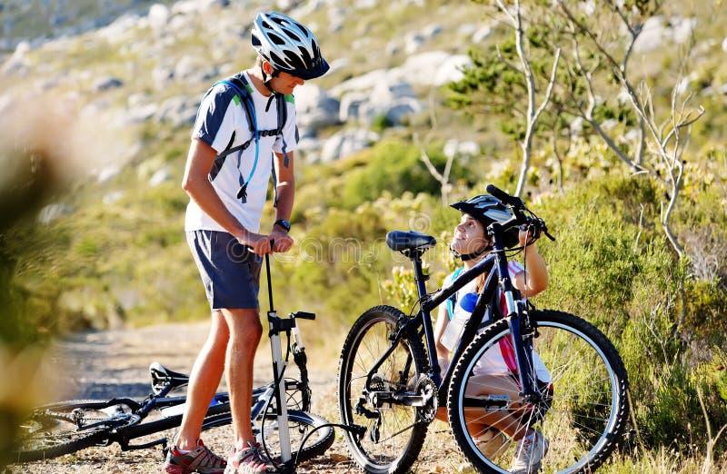 De problemen van de fiets stock foto
