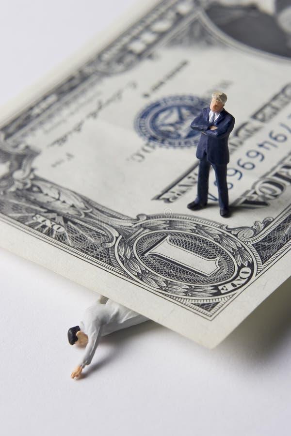 De problemen van het geld royalty-vrije stock afbeeldingen