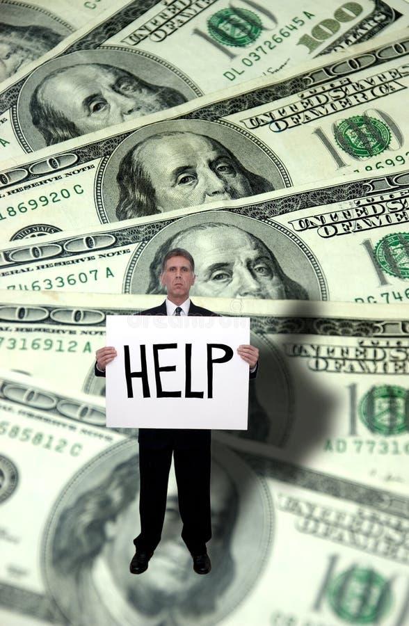 De Problemen van het geld, het Concept van de Hulp van de Behoefte royalty-vrije stock fotografie