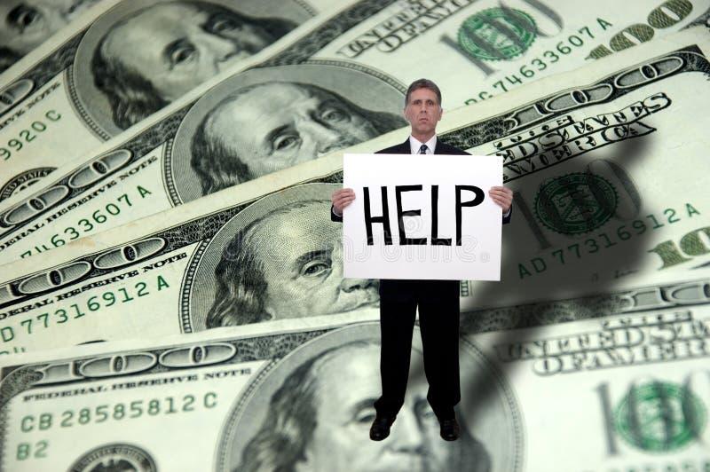 De Problemen van het geld, het Concept van de Hulp van de Behoefte, Besparingen royalty-vrije stock afbeeldingen