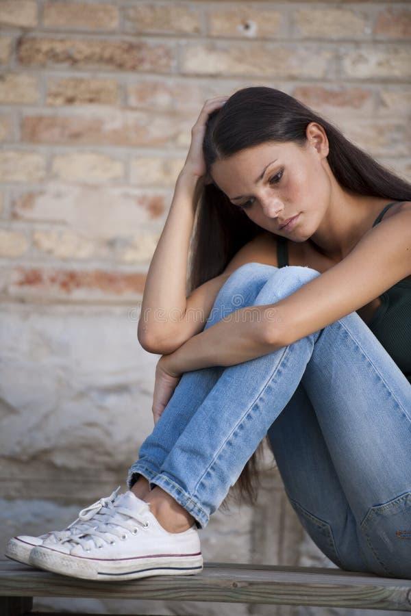 De problemen van tieners stock foto