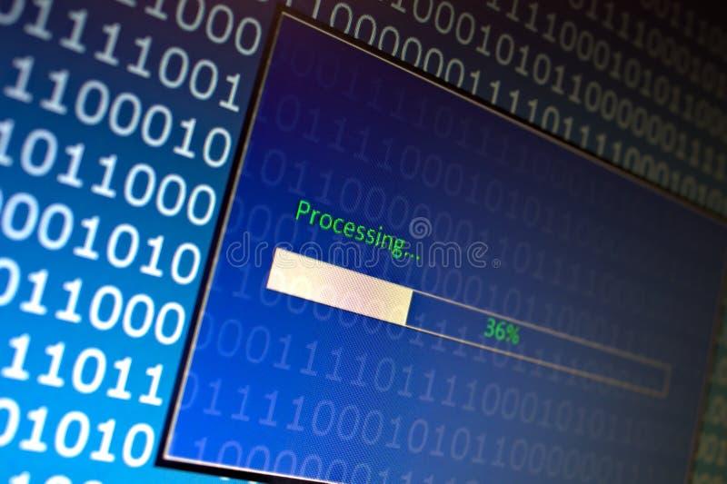 De proceso de datos fotografía de archivo libre de regalías