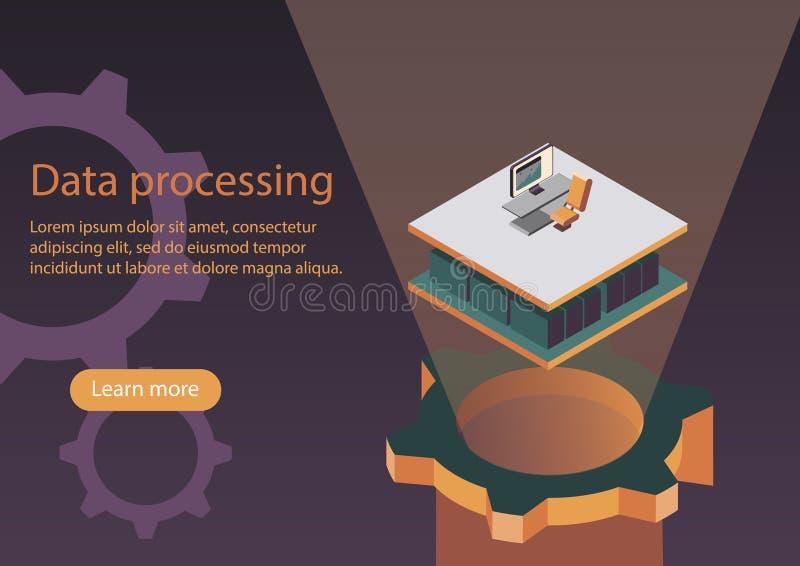 De processo de dados ilustração do vetor
