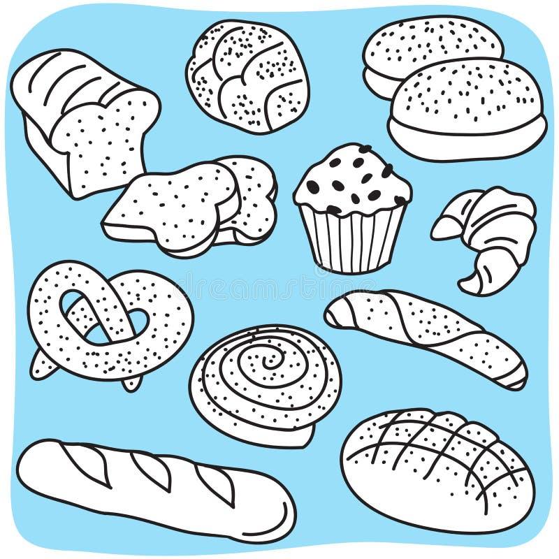 De producten van de bakkerij vector illustratie