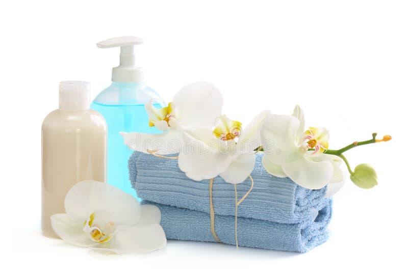 De producten van de lichaamsverzorging stock afbeeldingen