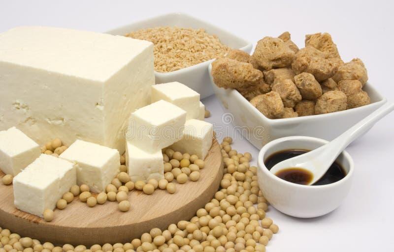 De producten van de soja stock foto's
