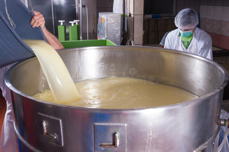 De productie van de kaas royalty-vrije stock foto