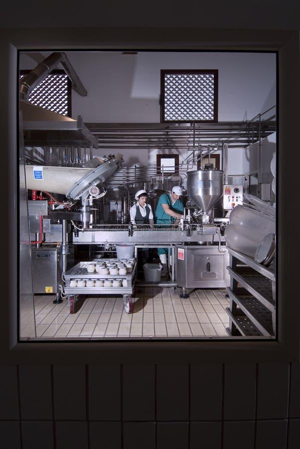 De productie van de yoghurt royalty-vrije stock foto's