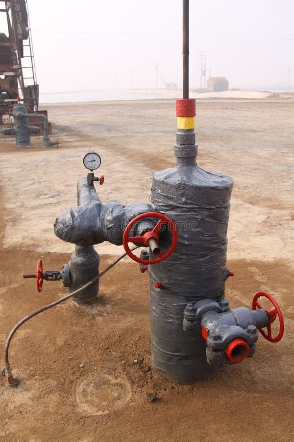 De productie van de olie en van het gas royalty-vrije stock afbeeldingen