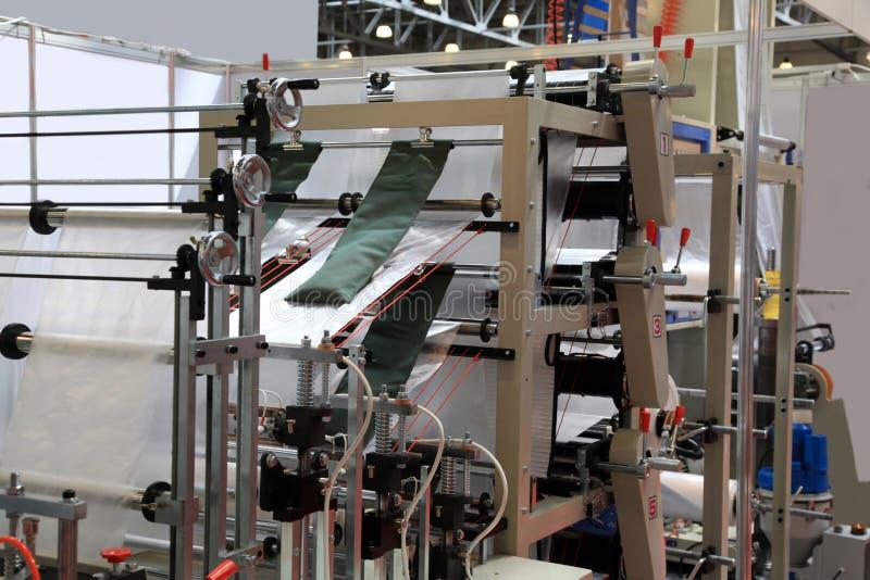 De productie van plastic pakketten royalty-vrije stock foto's