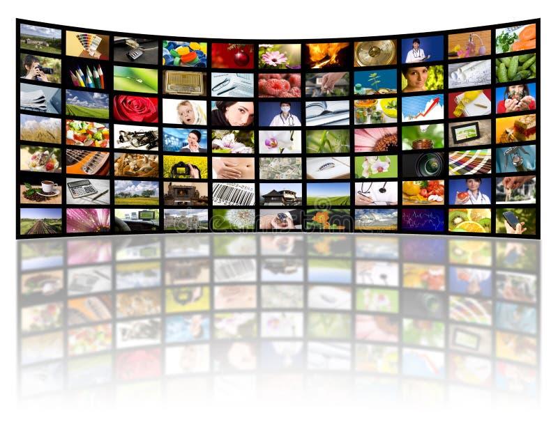 De productieconcept van de televisie. De filmpanelen van TV royalty-vrije stock afbeeldingen