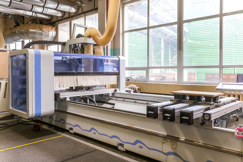 De productielijn van de meubilairfabriek stock fotografie