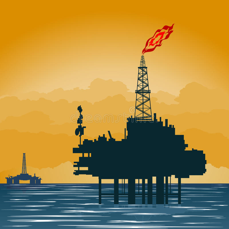 De productieplatform van het gas royalty-vrije illustratie