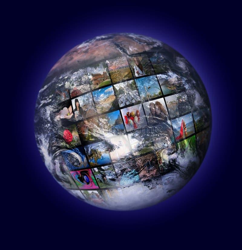 De productietechnologie van de televisie stock foto's