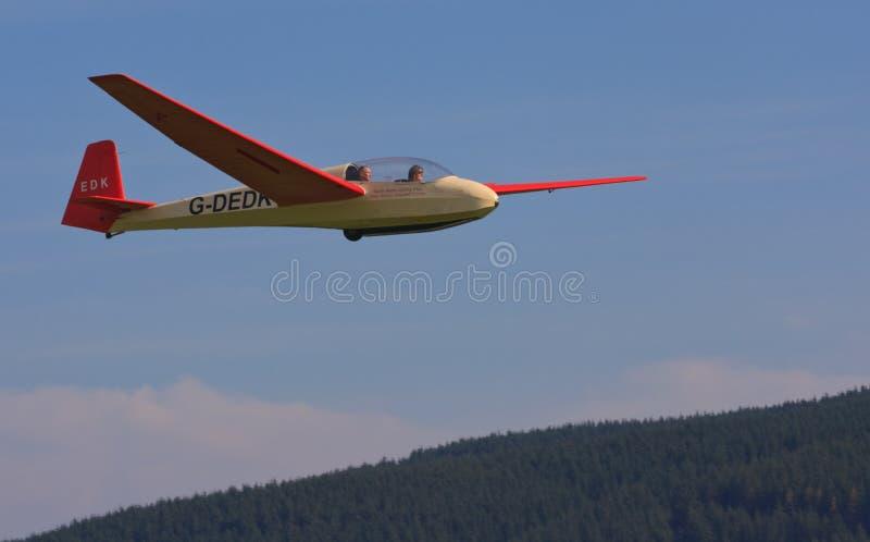 De proef opleiding van het zweefvliegtuig royalty-vrije stock afbeelding