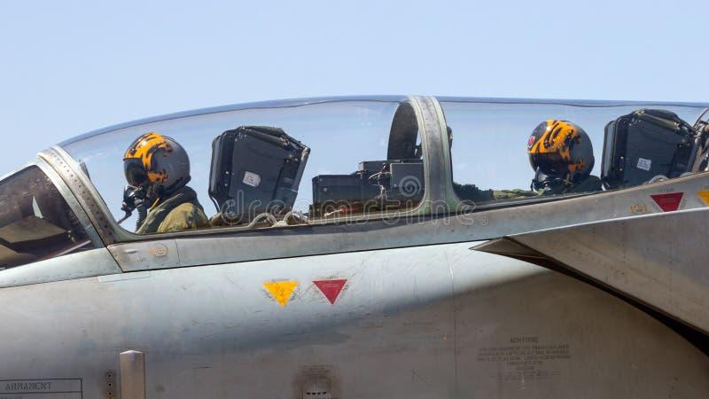 De proefcockpit van de tornadobommenwerper royalty-vrije stock afbeeldingen
