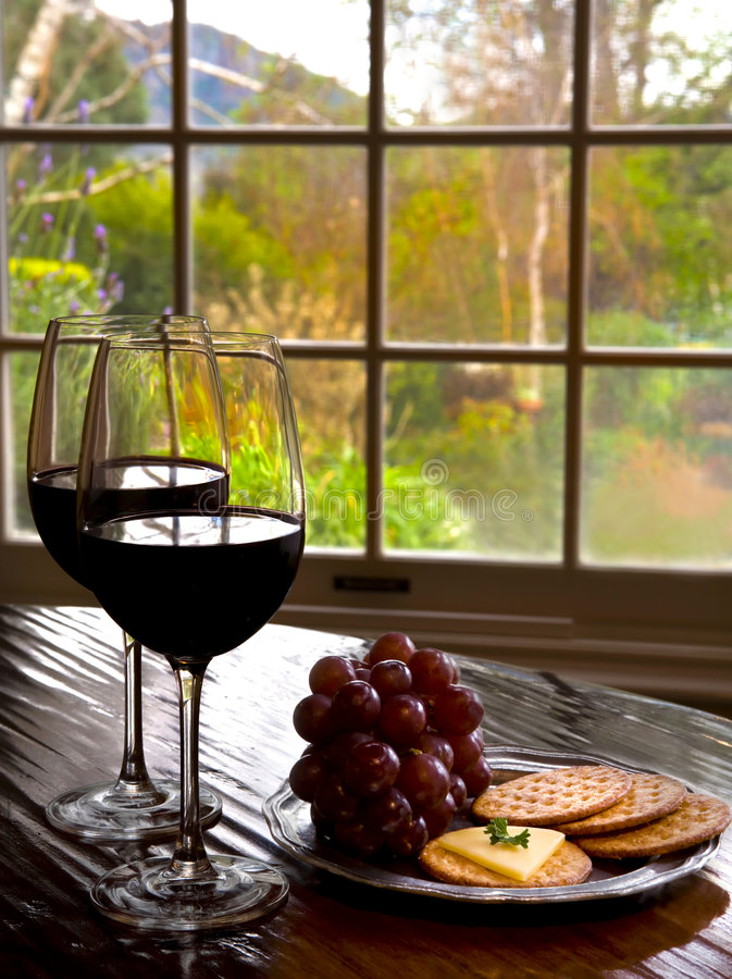 De proevende ruimte van de wijn