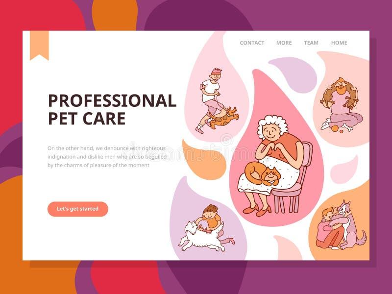 De professionele Illustratie van de Huisdierenzorg vector illustratie