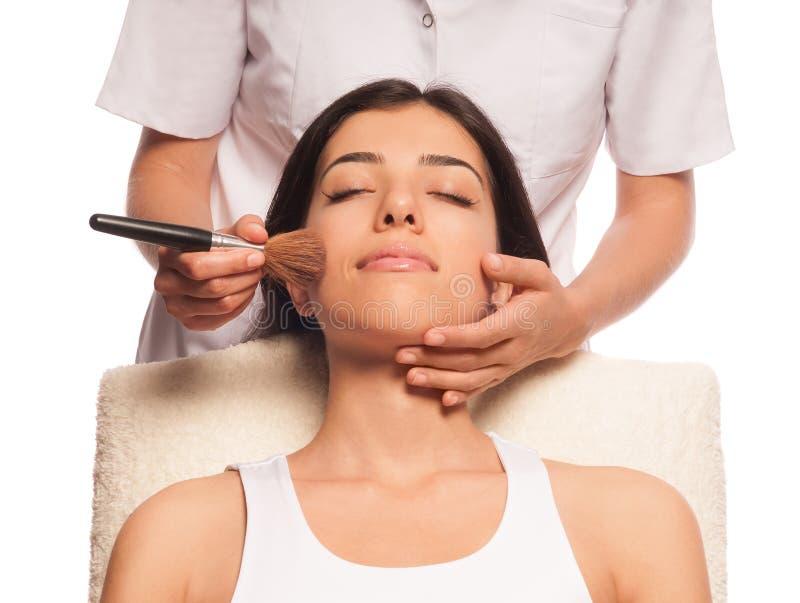 De professionele Make-up en bloost stock foto's