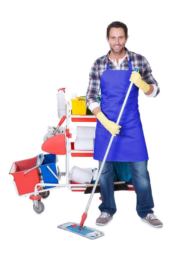 De professionele schoonmakende dienst stock afbeelding