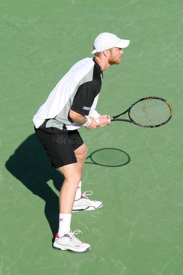 De professionele Speler van het Tennis. stock foto