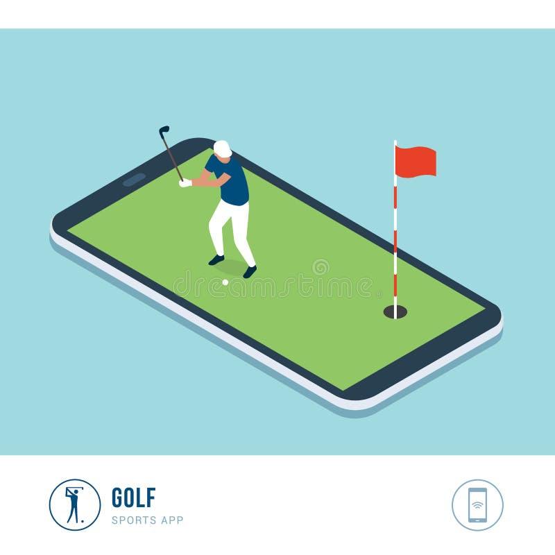 De professionele sportenconcurrentie: golf stock illustratie