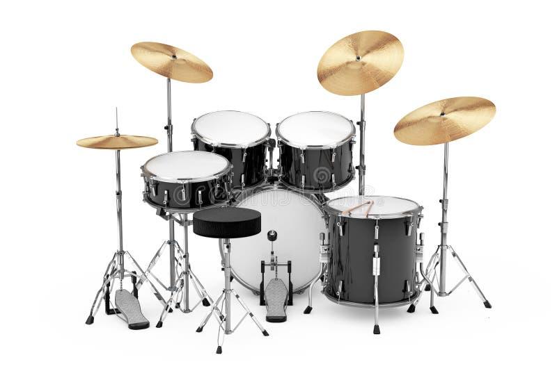 De professionele Uitrusting van de Rots Zwarte Trommel het 3d teruggeven royalty-vrije illustratie