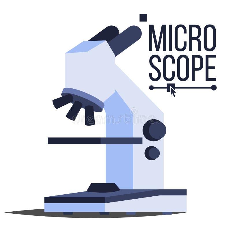 De professionele Vector van het Microscooppictogram Het Symbool van de laboratoriumwetenschap Macro Het Symbool van het ontdekkin royalty-vrije illustratie