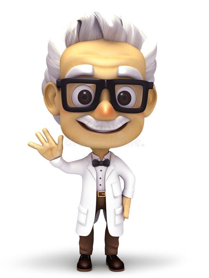 De professor zegt hello
