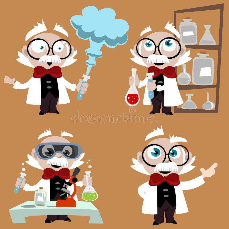 De professorsreeks van de wetenschap royalty-vrije illustratie