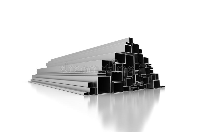 De Profielen van het metaal stock illustratie