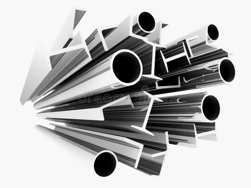 De profielen van het staal royalty-vrije illustratie