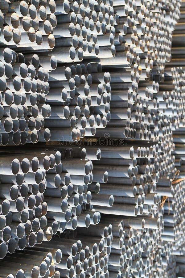 De profielenbuis van het metaal stock fotografie