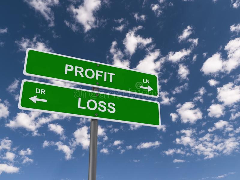 De profits et pertes images libres de droits