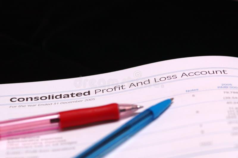 De profits et pertes photographie stock