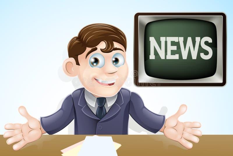 De programmacoördinator van het nieuws royalty-vrije illustratie