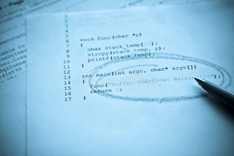 De programmering van de computer stock afbeelding