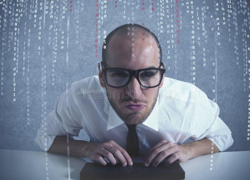 De programmeur van de software royalty-vrije stock foto's