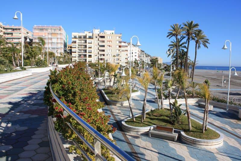 De Promenade van Almunecar (Spanje) royalty-vrije stock foto's