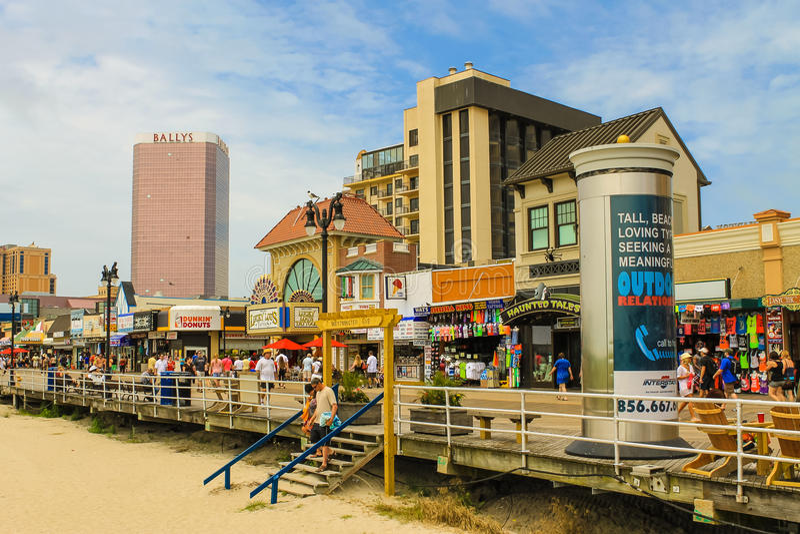 De Promenade van Atlantic City stock fotografie