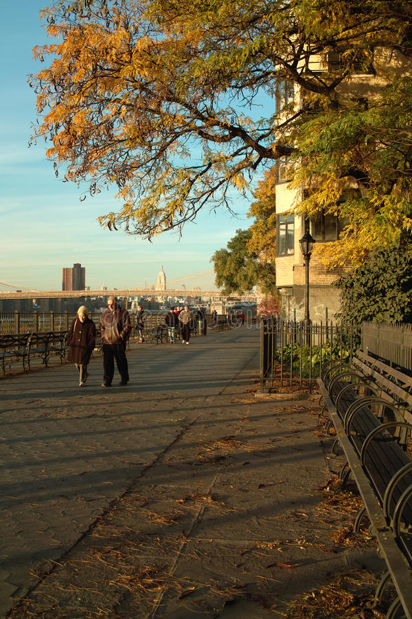 De Promenade van Brooklyn, New York. stock fotografie