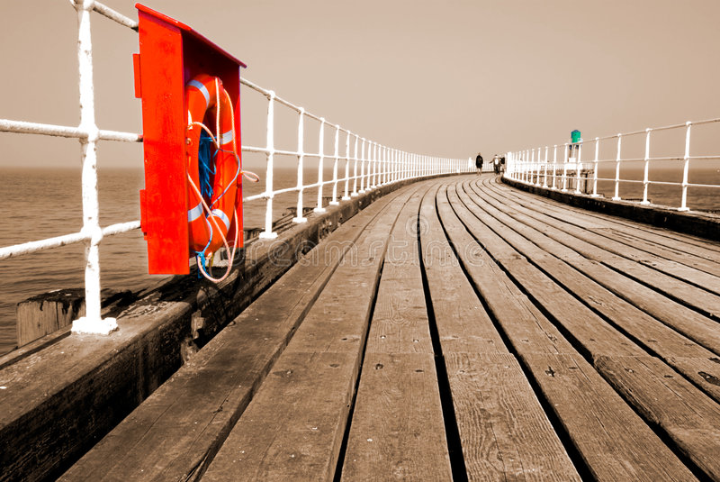 De promenade van de pijler stock fotografie