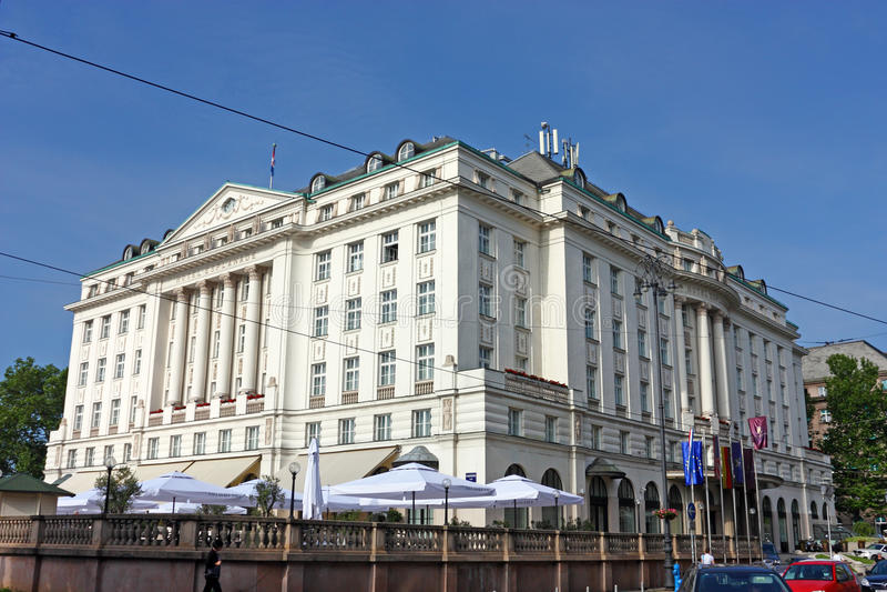 De Promenade van het hotel, Zagreb royalty-vrije stock foto's