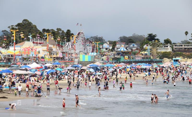 De Promenade van het Strand van Cruz van de kerstman royalty-vrije stock foto