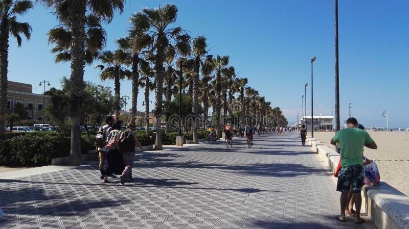 De promenade van Valencia royalty-vrije stock afbeelding